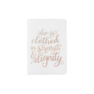 """""""She Is Clothed in Strength and Dignity"""" Passport Passport Holder"""