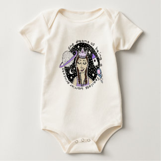She is fearless Customizable Baby Bodysuit Pink