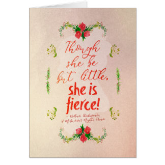 She is Fierce Card