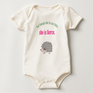 She is Fierce Cute Hedgehog Baby Girl Baby Cloth Bodysuit