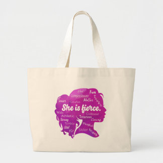 She is Fierce Large Tote Bag