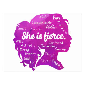 She is Fierce Postcard