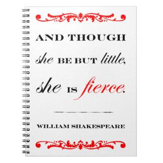 She is Fierce Spiral Notebook