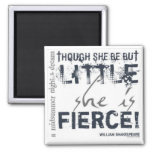 She Is Fierce Square Magnet