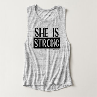 She Is Strong Ladies Tank Top