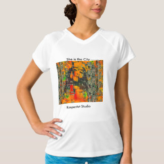 She is the City.....womens activewear T-Shirt
