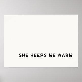 she keeps me warm poster