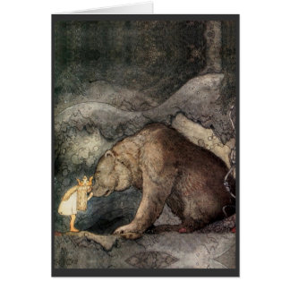 She Kissed the Bear's Nose Card