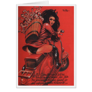 """She Krampus"" Note Card"