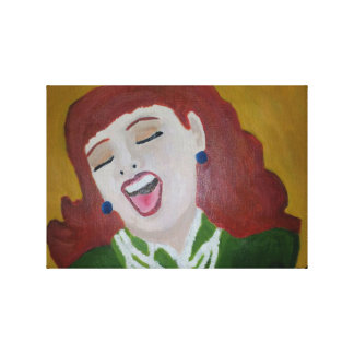 She Laughed Canvas Print