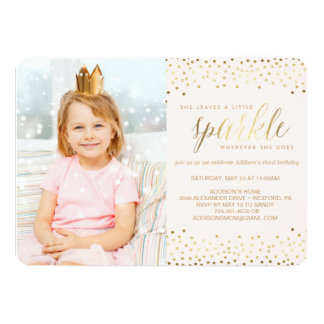 She Leaves a Little Sparkle® BIRTHDAY INVITATION