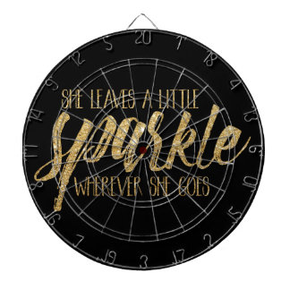 She Leaves A Little Sparkle Dartboard