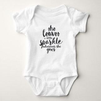 She Leaves a Little Sparkle Wherever She Goes Baby Bodysuit