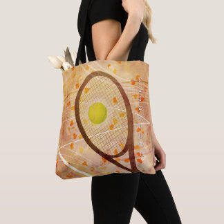 she loves tennis women's tote bag w custom name