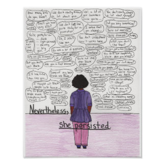 She Persisted (Black) 11x14 Poster