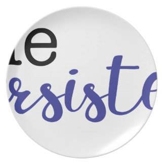She Persisted (black/blue) Plate