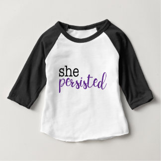 She Persisted (black/purple) Baby T-Shirt