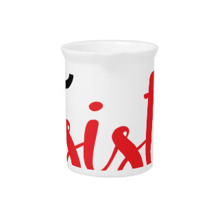 She Persisted (black/red) Pitcher