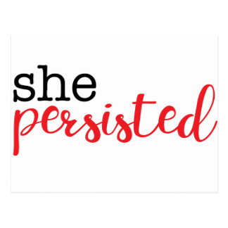 She Persisted (black/red) Postcard
