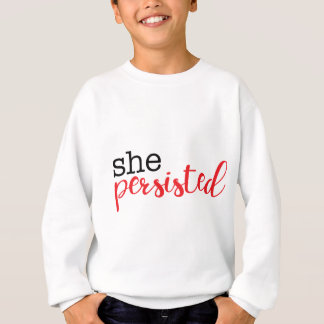 She Persisted (black/red) Sweatshirt