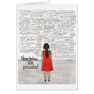 She Persisted (Latina) Card