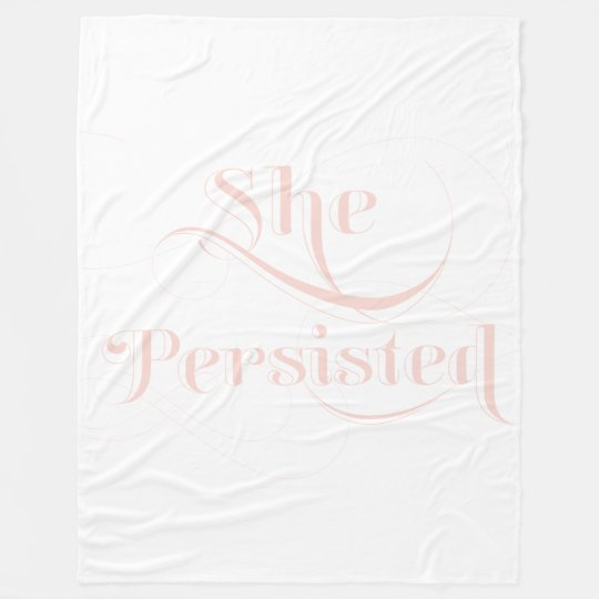 She Persisted Quote Fleece Blanket