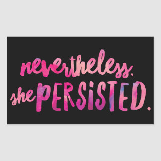 She Persisted Rectangle Stickers, Glossy Sticker