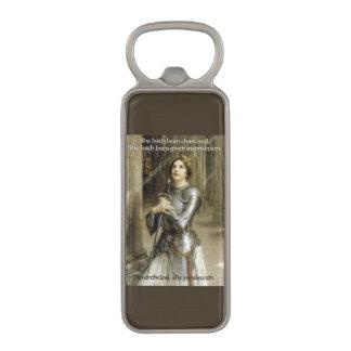 She Persisteth - Joan D'Arc Magnetic Bottle Opener