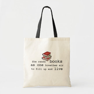 She Read Books to Live Book Lover Tote Bag