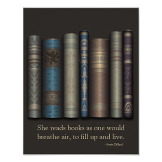 She Reads Books To Live Book Lover Poster