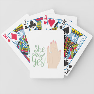 She Said Yes Bicycle Playing Cards