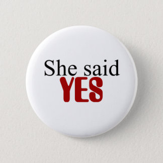 She said YES button