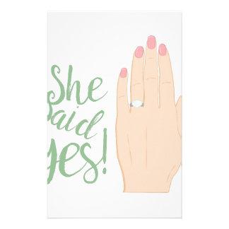 She Said Yes Custom Stationery