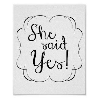 She Said YES! Poster