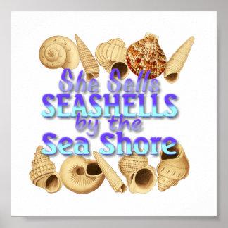 She Sells Seashells Poster