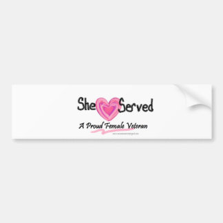 She Served Collection Bumper Sticker