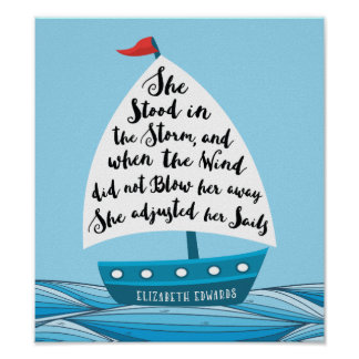 She Stood in the Storm Poster