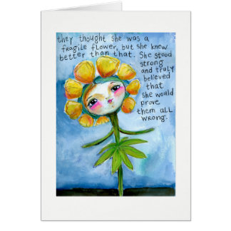 She Stood Strong Greeting Card