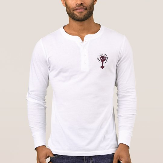 She the People Mens Henley Long Sleeve T-Shirt