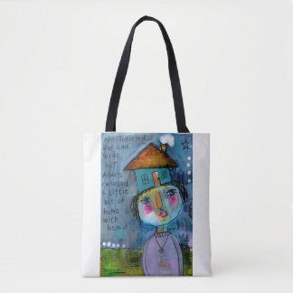 She Traveled Far And Wide Tote Bag