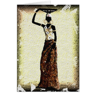 She Walked Out Of Africa Card
