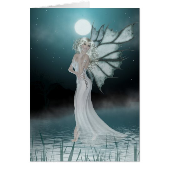 She Walks on Water - Fantasy/Fae Greeting Card