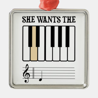 She Wants the D Piano Music Ornament