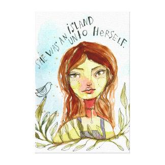 She Was an Island Canvas Print