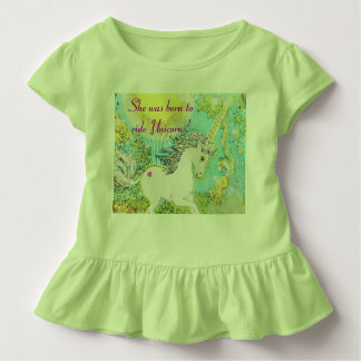She was born to ride Unicorns! Toddler T-shirt
