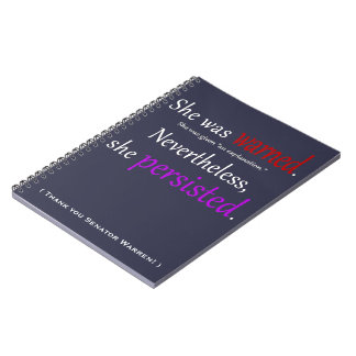 She Was Warned Text Spiral Notebook