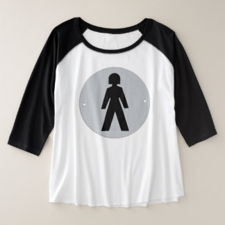 She Wears the Pants Plus Size Raglan T-Shirt