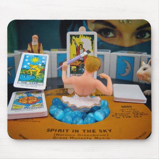 She who creates Good Fortune Mousepad