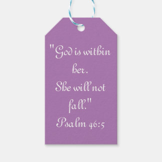 """She will not Fall"" Scripture Gift Tag Pack Of Gift Tags"