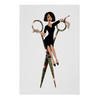 """Shear Diva"" African American Diva Poster"